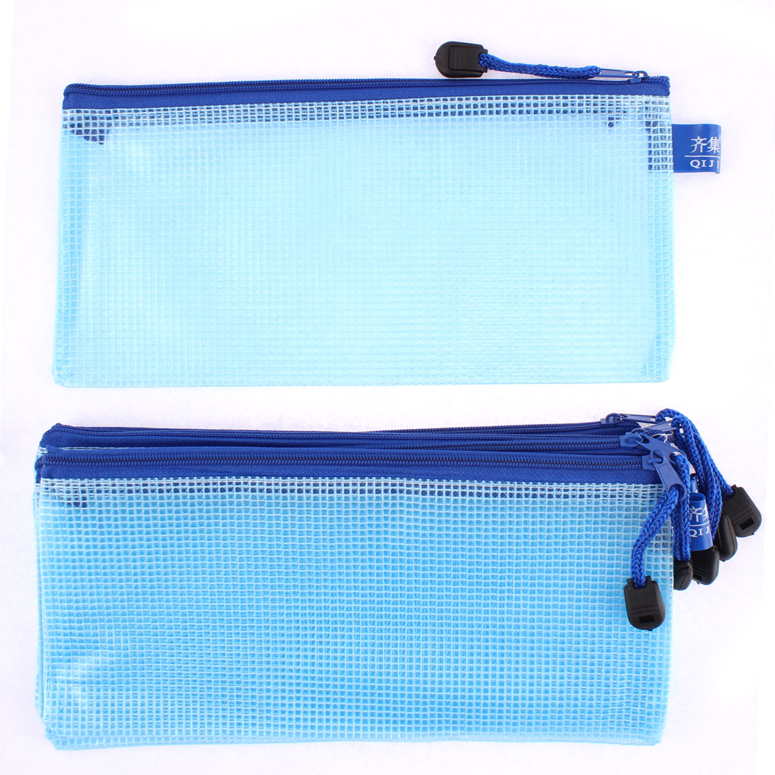 6pcs Zipper Closure Stationery Document A5 File Bags Folder Case
