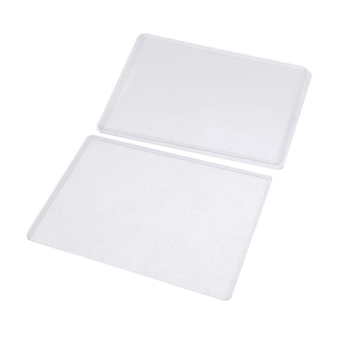 3pcs Clear Plastic B6 Badge Credit ID Card Holder Cover Protector