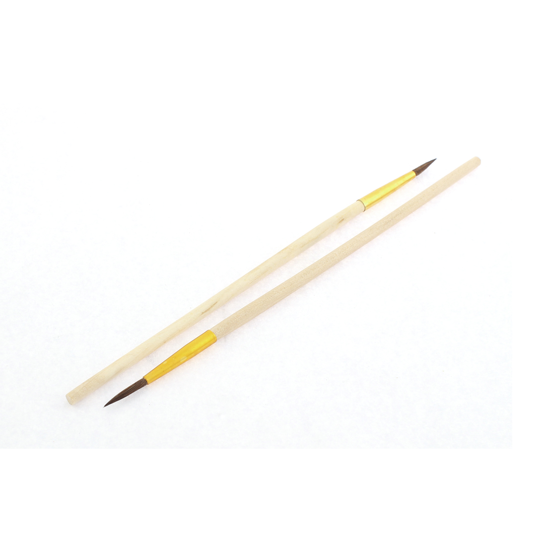 2pcs Watercolor Round Pointed Tip Art Paint Painting Brushes