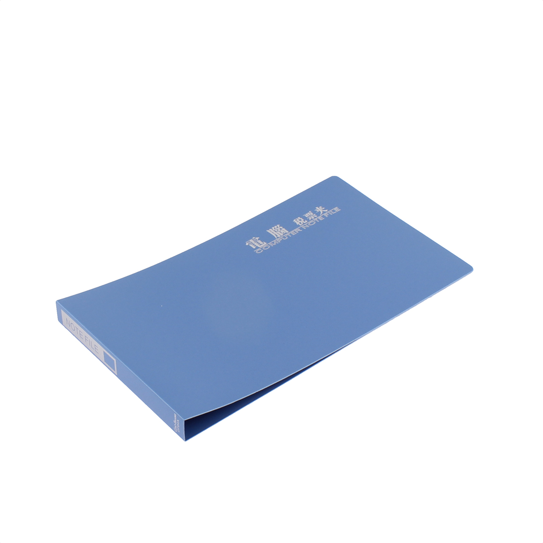 Office Blue Plastic Cover Check File Folder Clip Organizer Holder