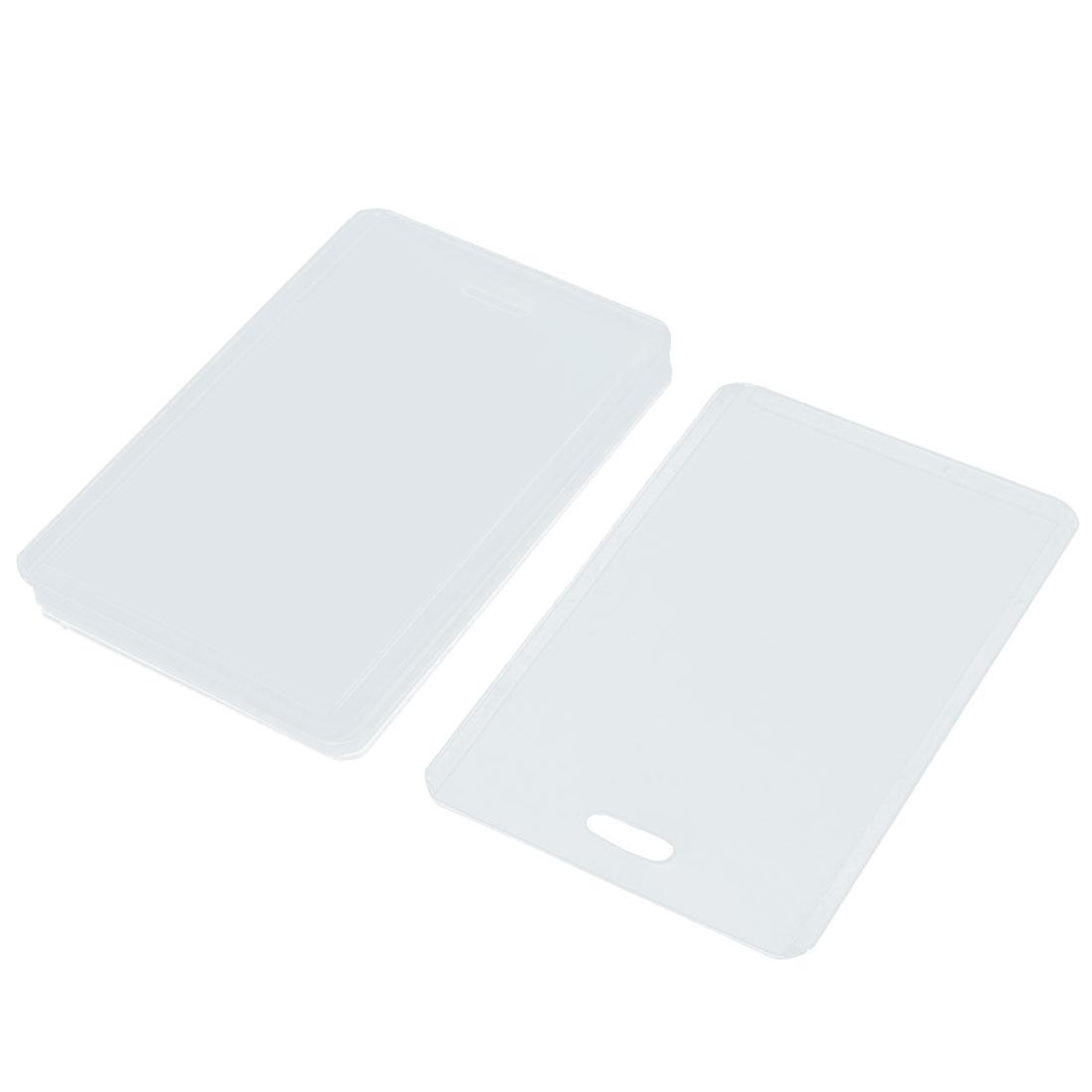 8pcs Vertical Transparent Plastic Business Credit ID Card Holder Cases