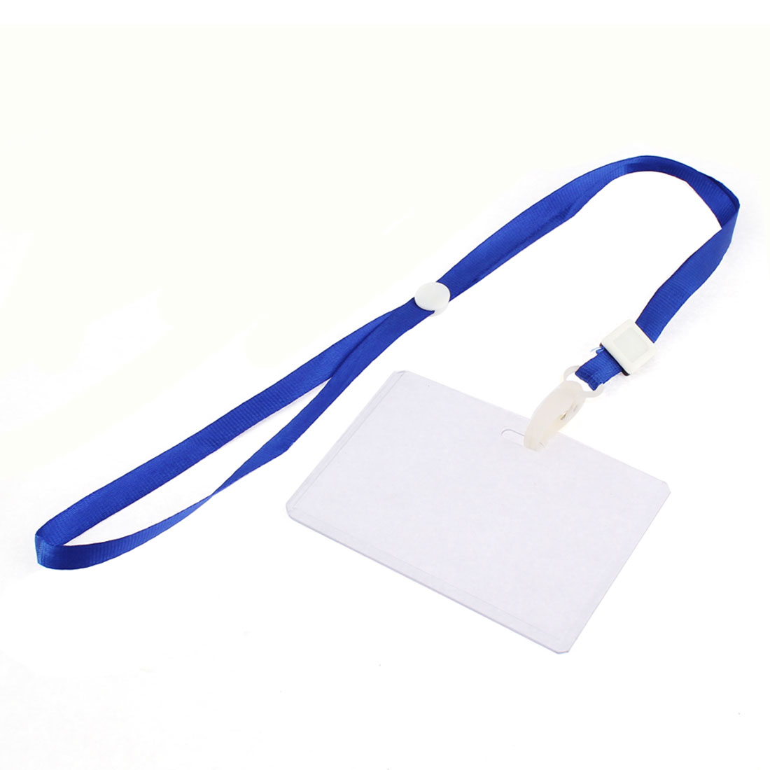 Nylon Lanyard Plastic Business ID Badge Card Holder Strap Ring Case Pocket 2pcs