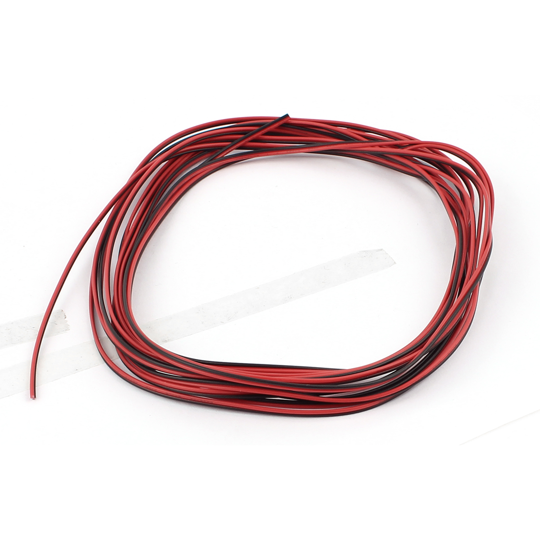 28AWG Indoor Outdoor PVC Insulated Electrical Wire Cable Black Red 5 Meters