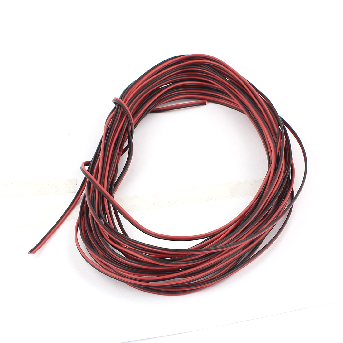 28AWG Indoor Outdoor PVC Insulated Electrical Wire Cable Black Red 10 Meters