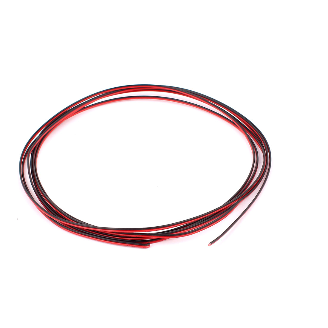 24AWG Indoor Outdoor PVC Insulated Electrical Wire Cable Black Red 3 Meters