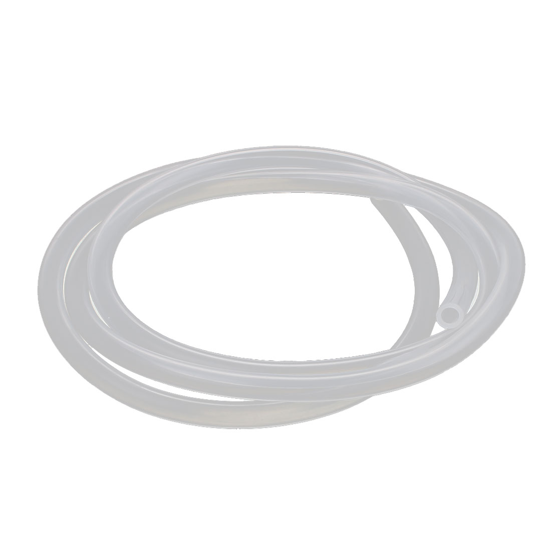 4mm x 6mm Silicone Vacuum Translucent Tube Beer Water Air Pump Hose Pipe 1 Meter Long