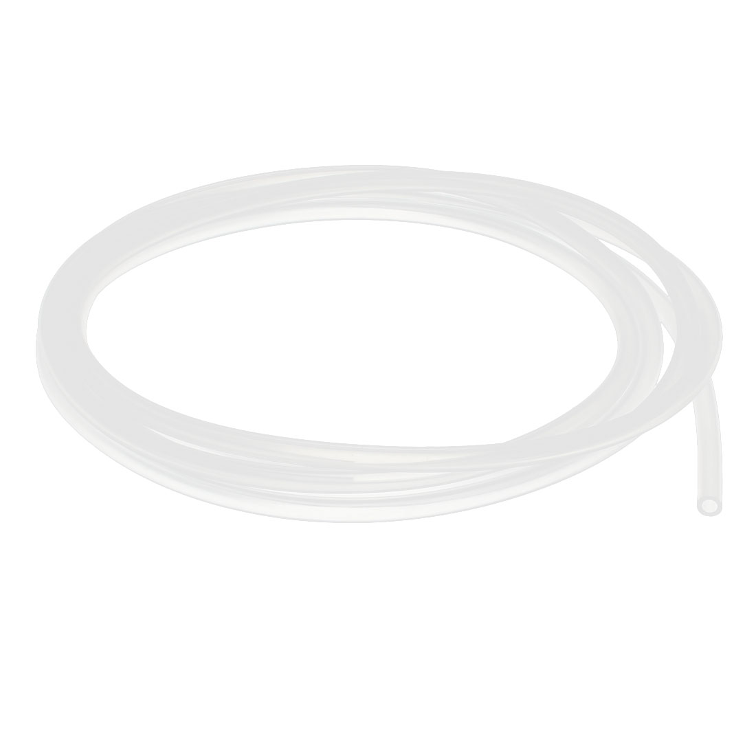 3mm x 5mm Silicone Vacuum Food Grade Translucent Tube Beer Water Air Pump Hose Pipe 2 Meters Long