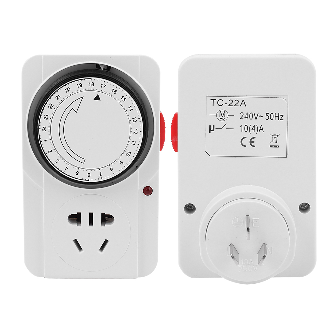AC 220V AU Plug 24 Hour 24hr Mains Time Switch Timer AU US Socket Adapter
