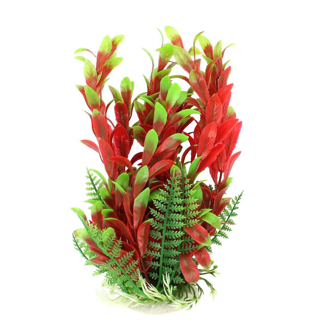 Plastic Aquatic Simulation Leaf Fish Tank Aquarium Plant Decoration