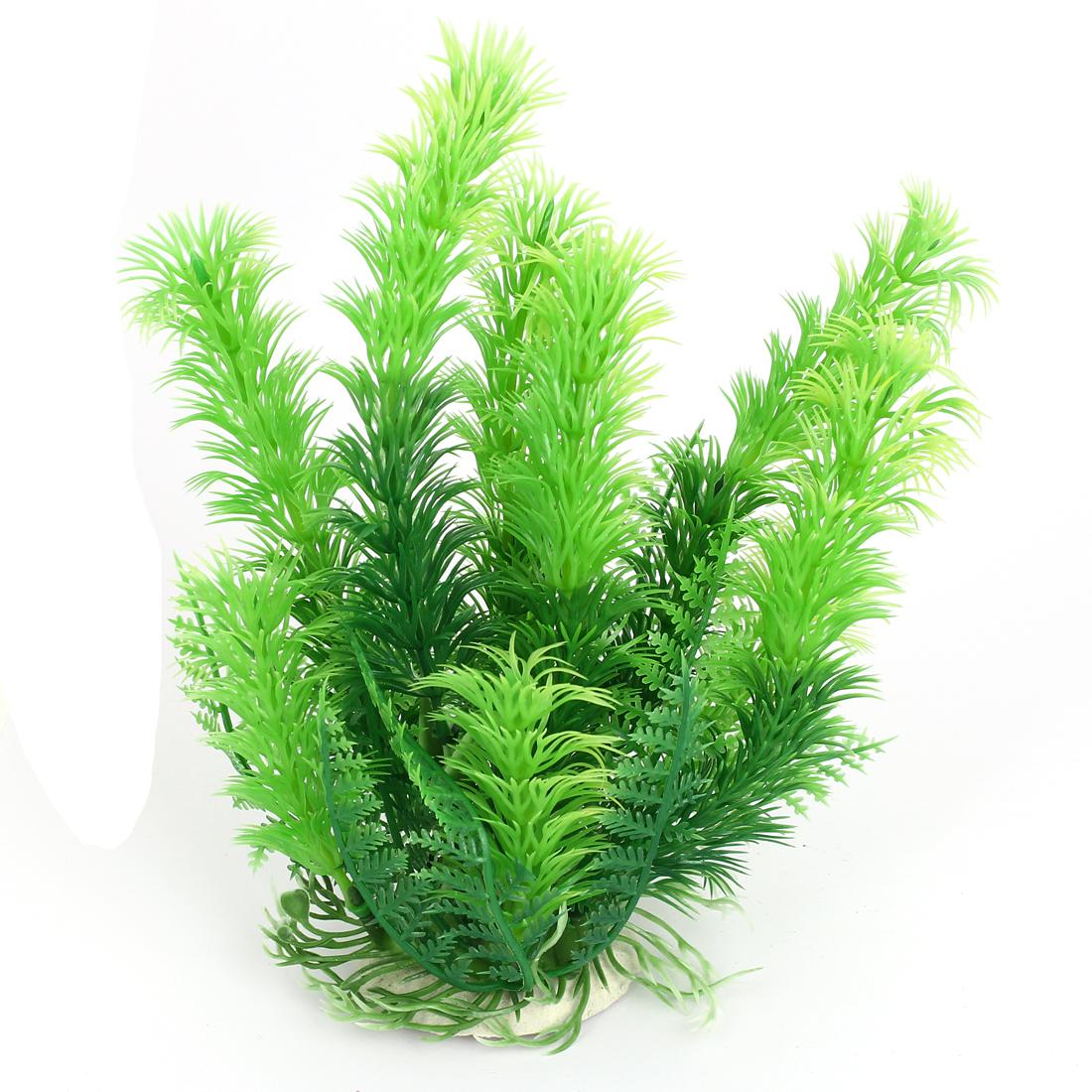 Aquarium Fish Tank Simulated Artificial Water Plant Grass Decor Ornament Green