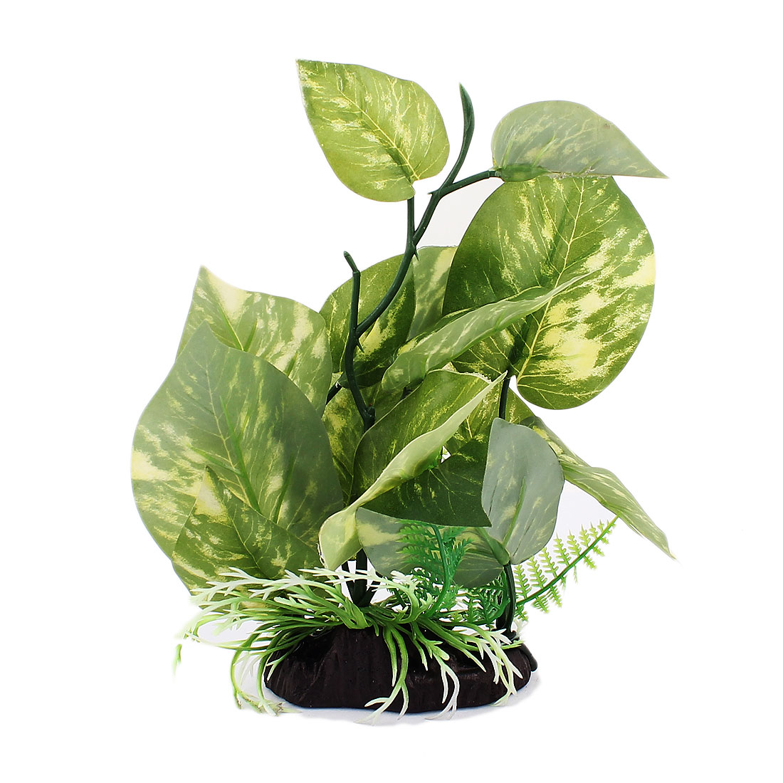Plastic Simulation Leaf Aquatic Plant Fish Tank Aquarium Decoration