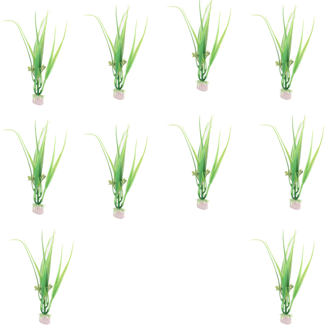 Plastic Aquascaping Underwater Plant Grass Aquarium Decor Green 10 Pcs