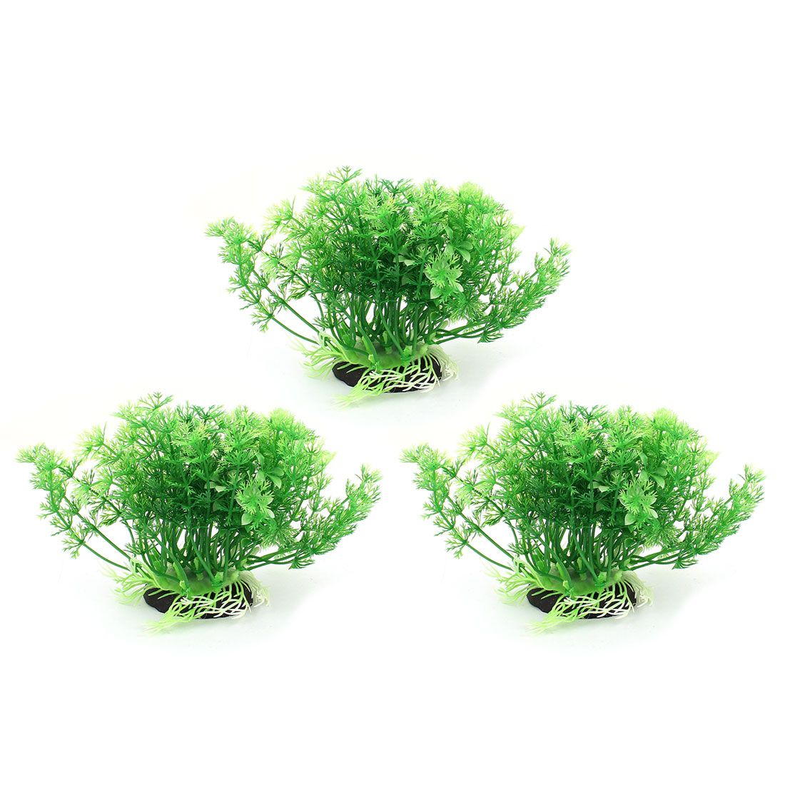 Plastic Leaf Aquatic Plant Fish Tank Aquarium Decor Green 3 Pcs