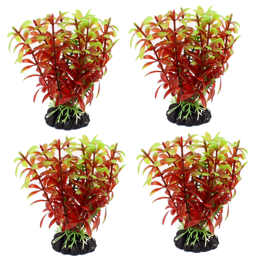 Plastic Underwater Aquatic Plant Fish Tank Aquarium Decoration 4PCS