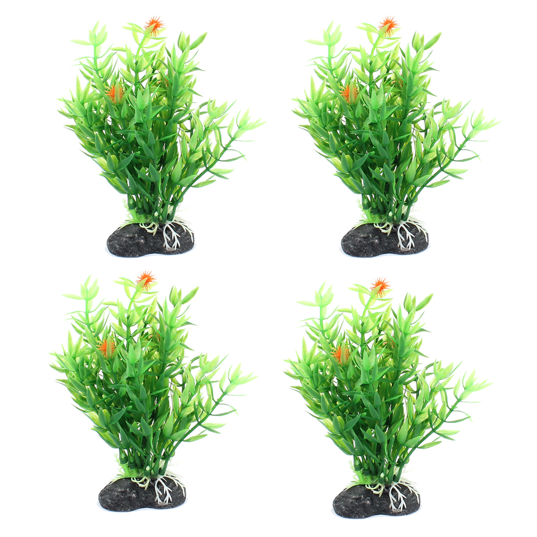 Plastic Underwater Aquascaping Plant Fish Tank Aquarium Decor 4pcs