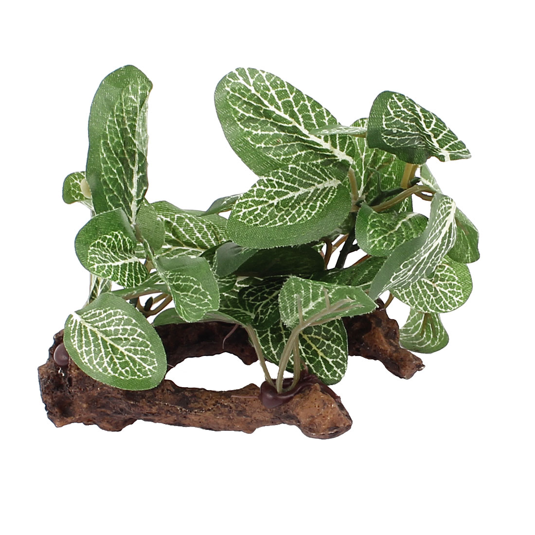 Ceramic Root Shape Base Plastic Sea Weeds Grass Aquarium Plants Decor