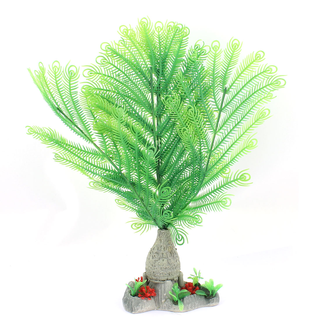 Plastic Underwater Aquatic Plant Fish Tank Aquarium Decor 33cm High Green