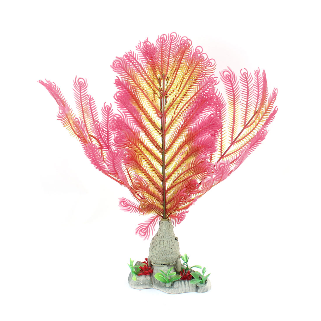 Plastic Underwater Aquatic Plant Fish Tank Aquarium Decor 32cm High Pink