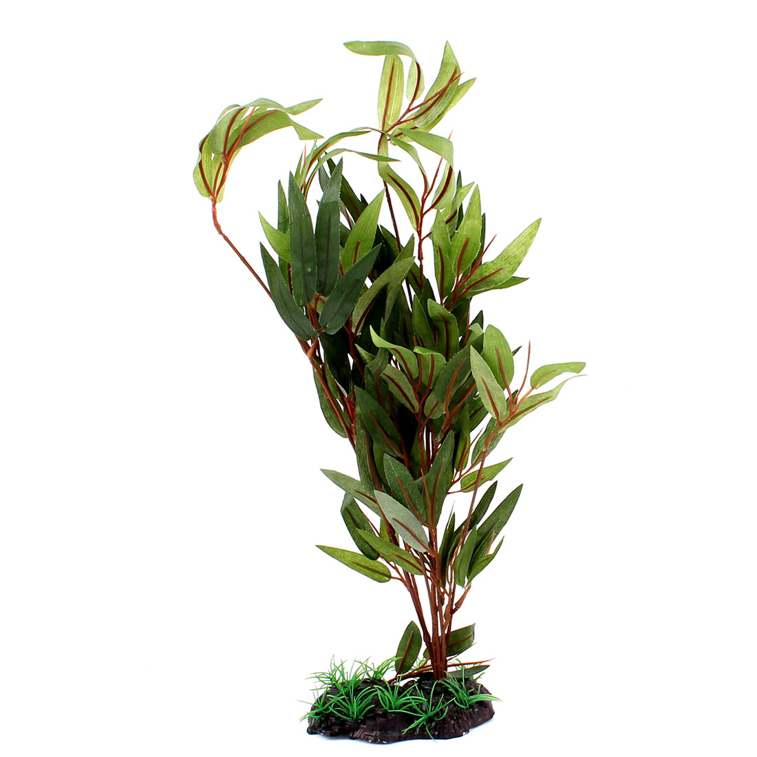 "Aquarium Fish Tank Artificial Bamboo Leaf Plant Decoration Green 14"" Height"