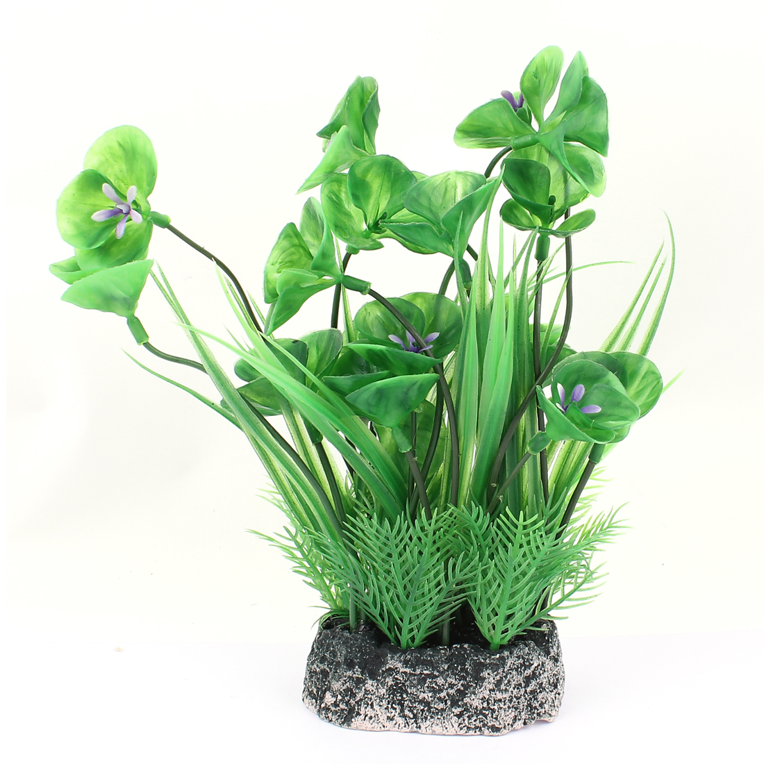 Ceramic Base Underwater Aquatic Plant Fish Tank Aquarium Decor 22cm High