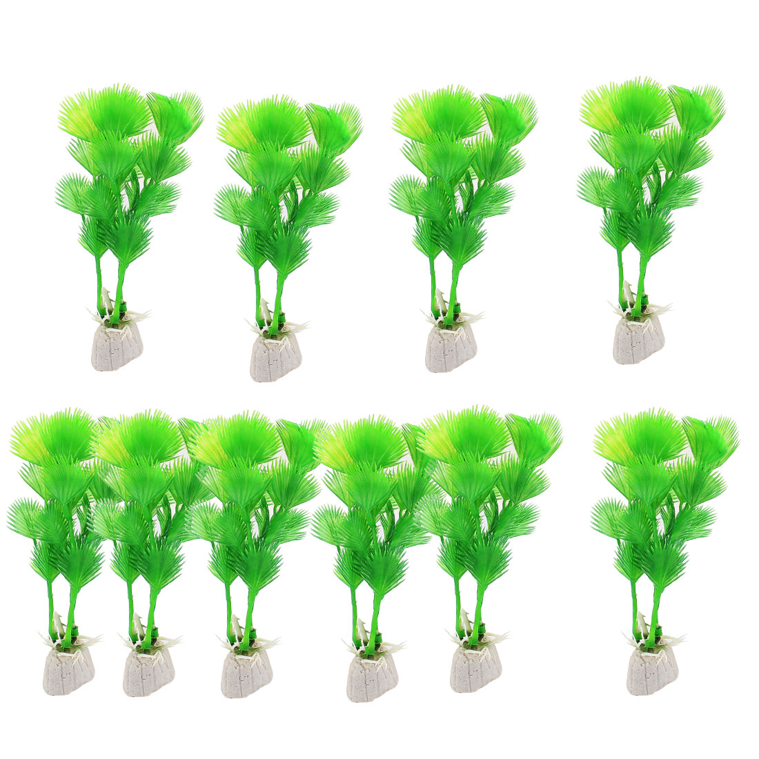 Plastic Underwater Aquatic Plant Fish Tank Aquarium Decor Green 10PCS