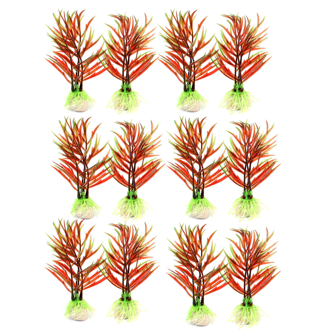 Plastic Manmade Plant Underwater Fish Tank Aquarium Decoration 10PCS