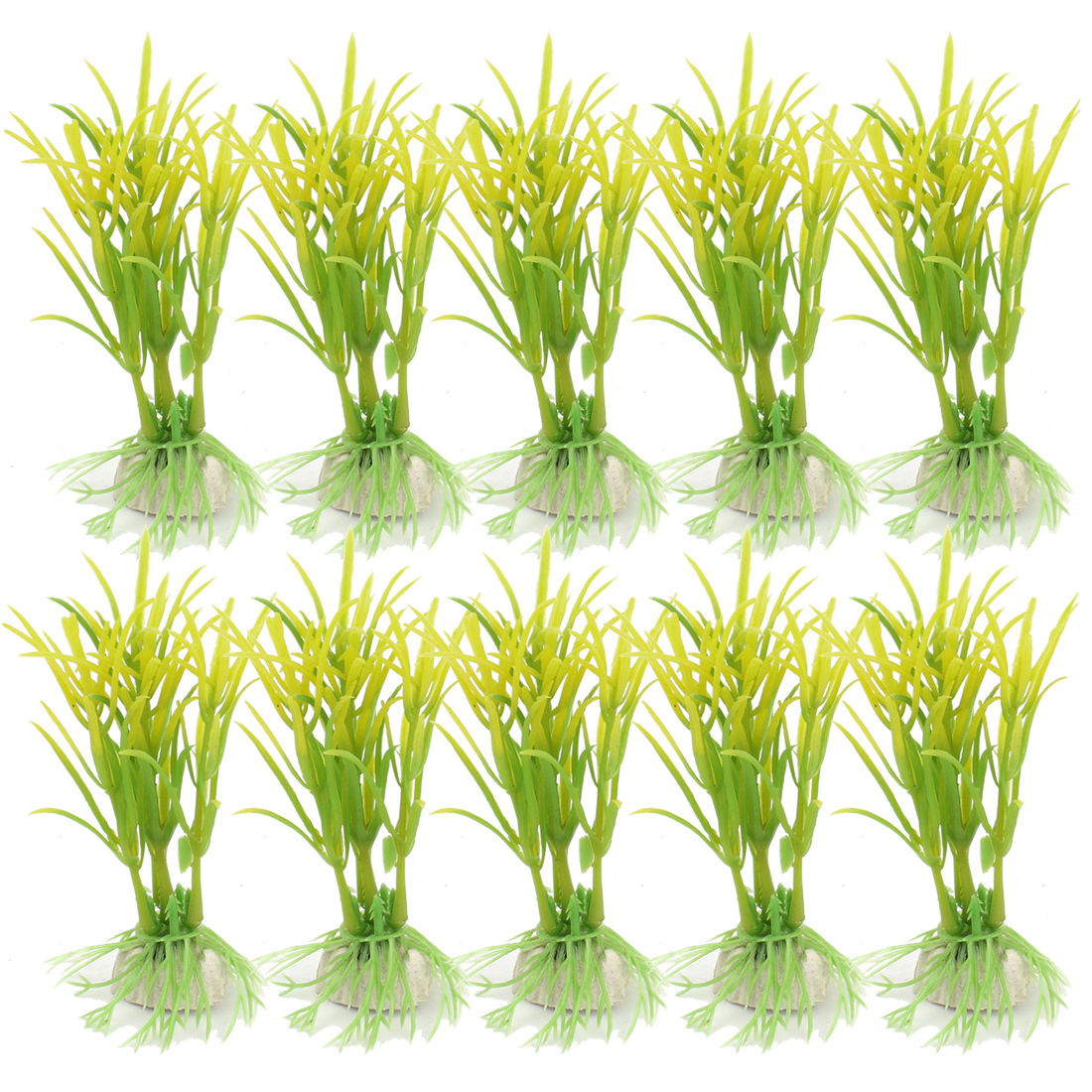 Plastic Underwater Sea Weeds Plant Fish Tank Aquarium Decoration 10pcs