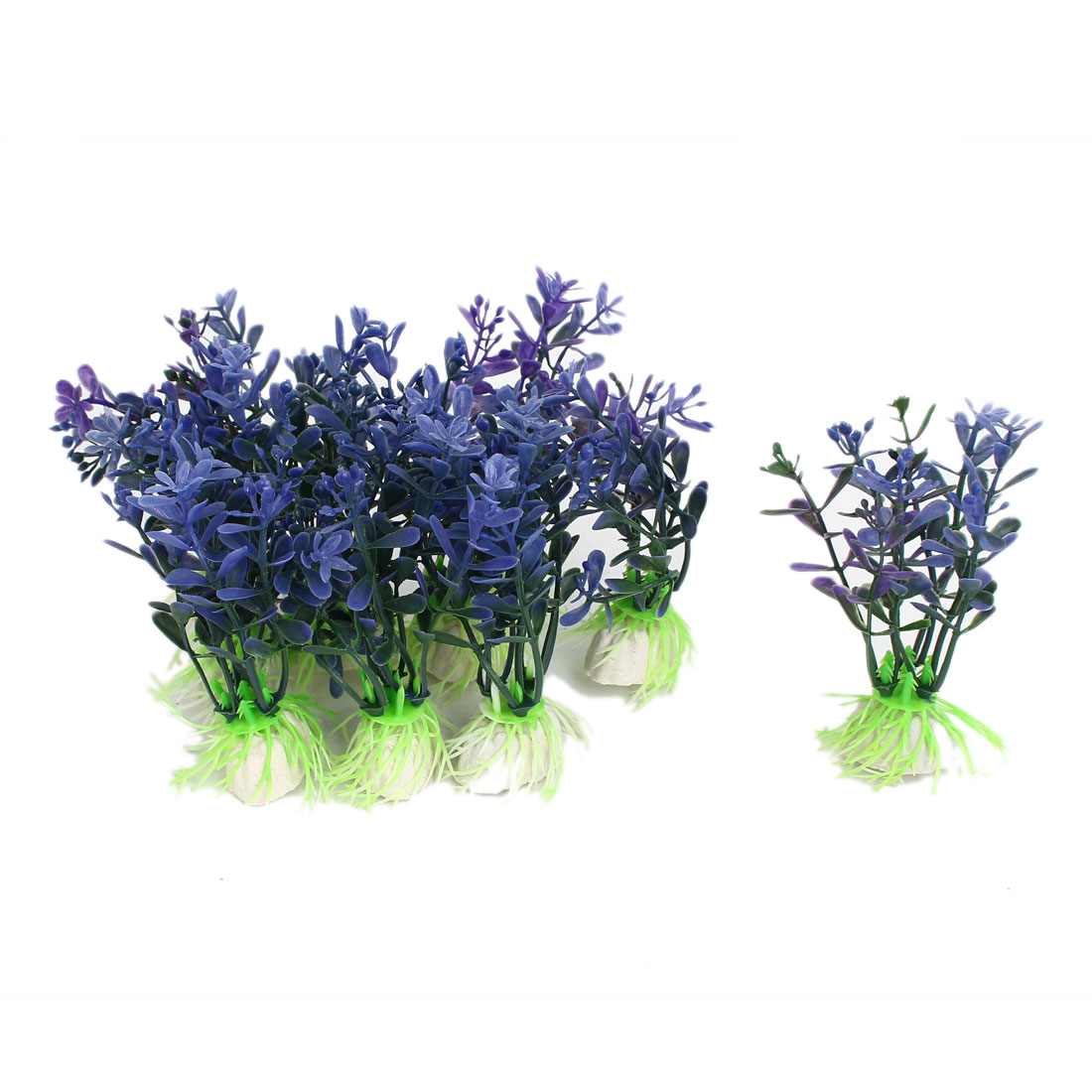 Aquarium Fish Tank Simulated Fake Water Plant Grass Decor Ornament Purple 10Pcs