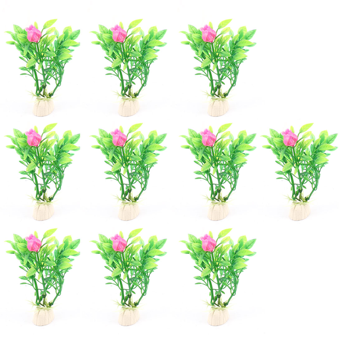 Plastic Aquascaping Underwater Plant Grass Aquarium Decor 10pcs