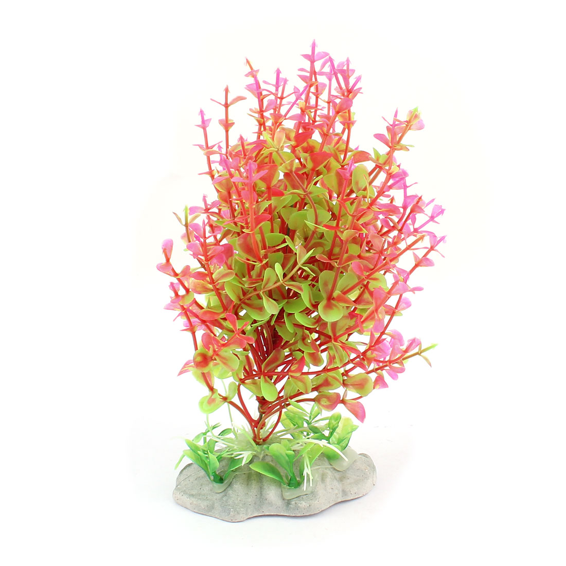 Plastic Underwater Aquatic Plant Fish Tank Aquarium Decor Pink