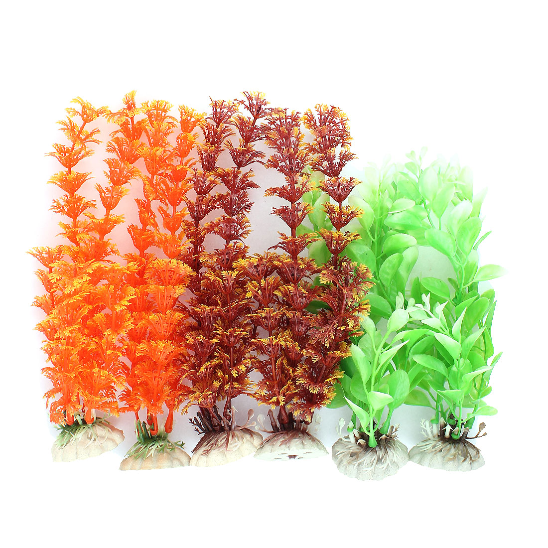 Plastic Underwater Aquatic Plant Fish Tank Aquarium Decoration 6PCS
