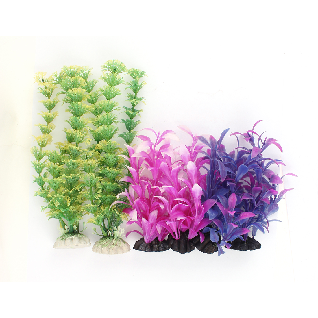 Plastic Underwater Aquascaping Plant Fish Tank Aquarium Decor 6pcs