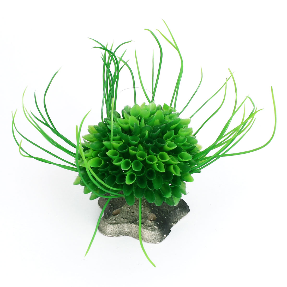 Aquarium Fish Tank Bowl Star Base Plastic Plant Bouquet Decor Ornament Green
