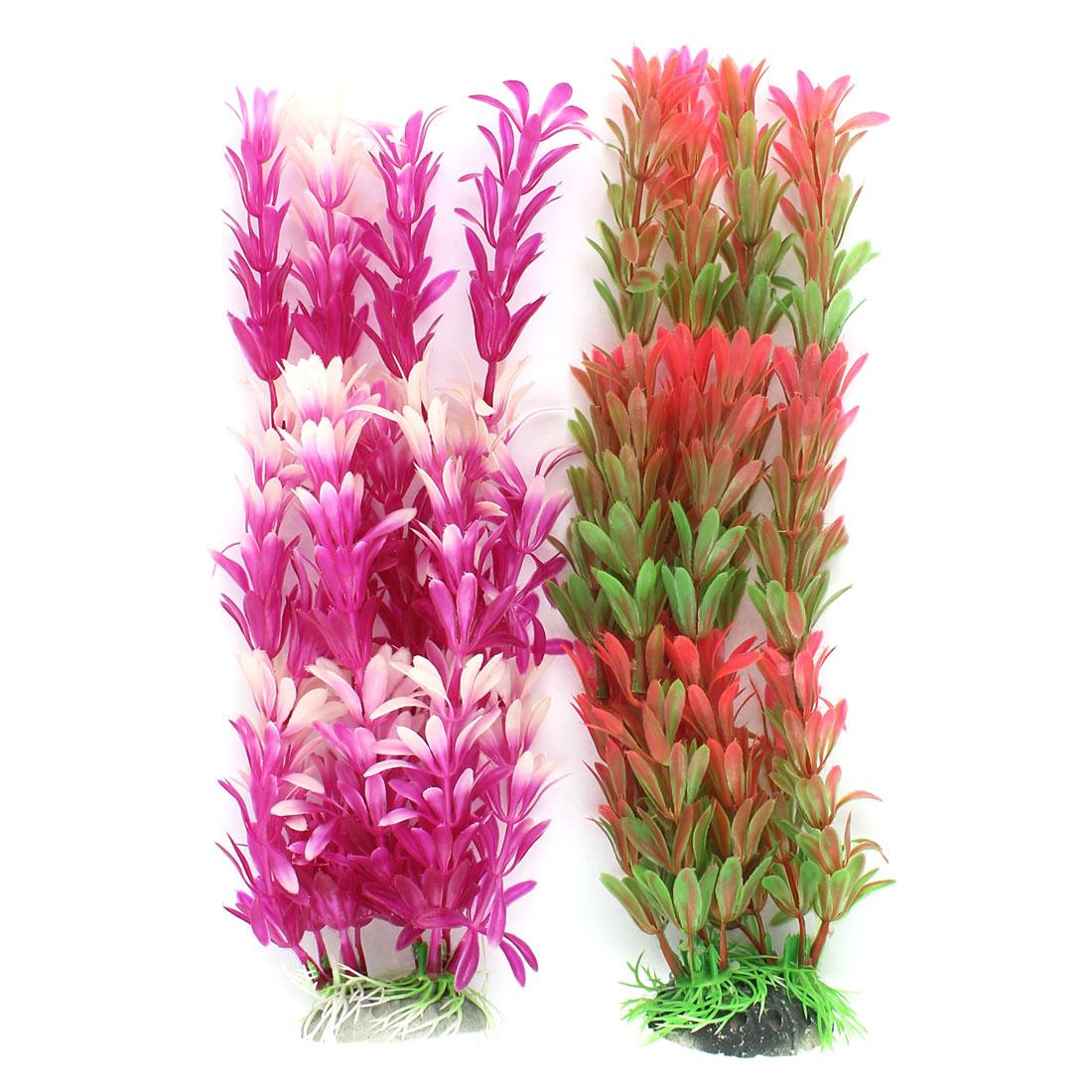 Plastic Underwater Sea Weeds Plant Fish Tank Aquarium Decoration 2pcs