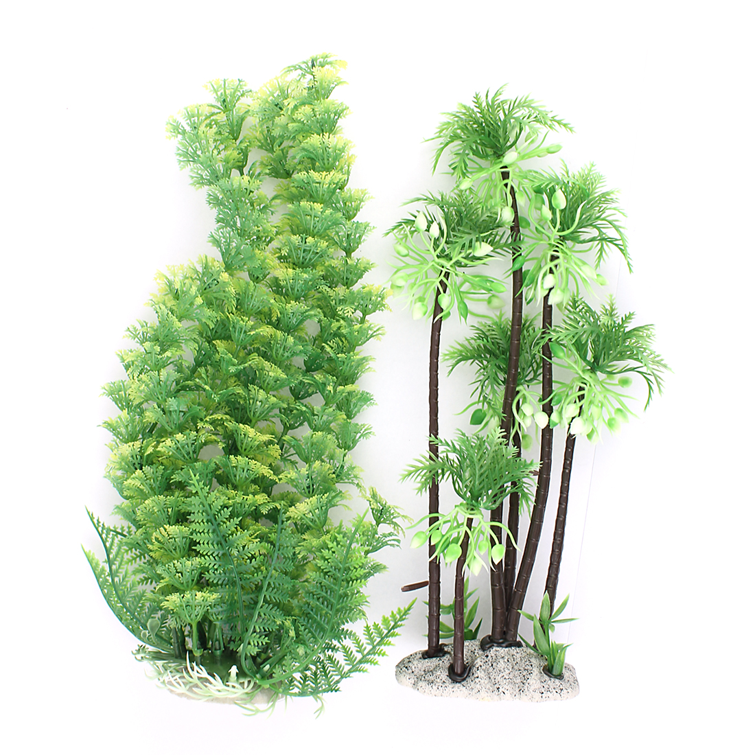 Underwater Simulation Aquatic Plant Fish Tank Aquarium Decor Green 2PCS