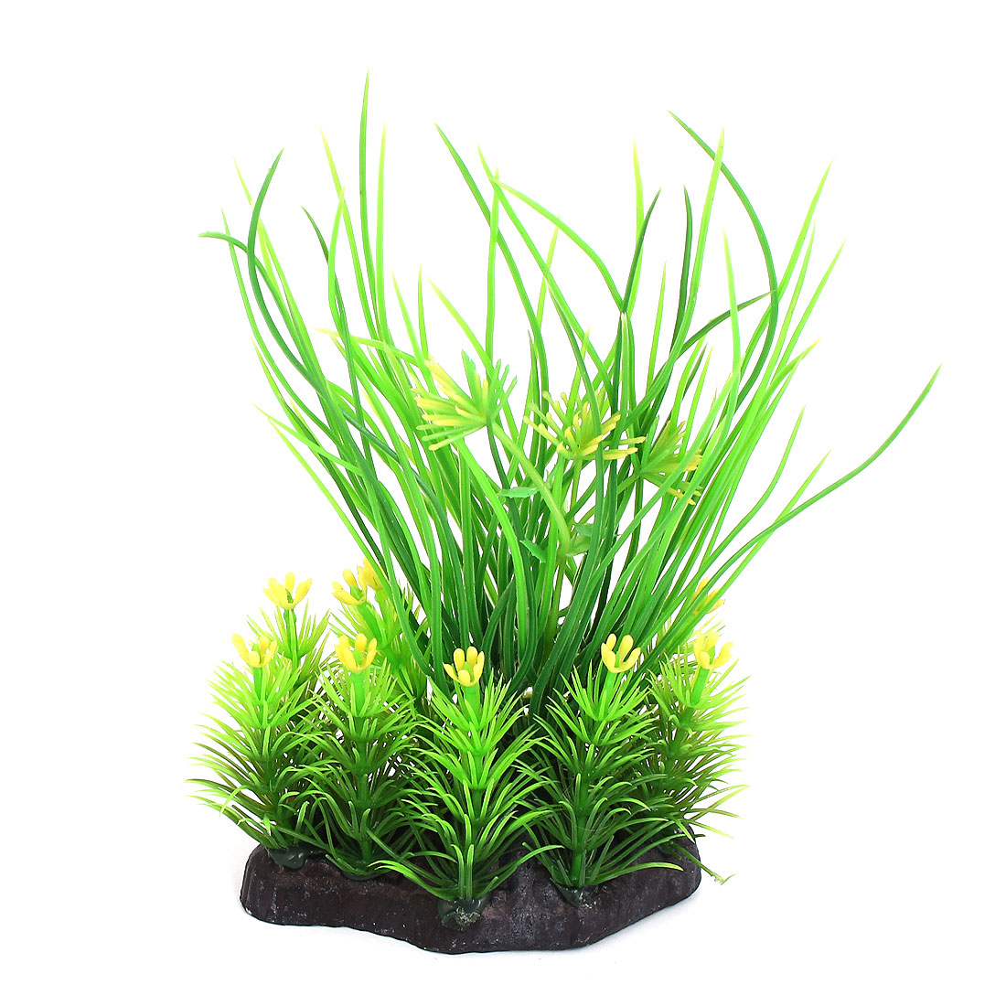 Aquarium Fish Tank Bowl Plastic Fake Water Plant Grass Decor Ornament Green