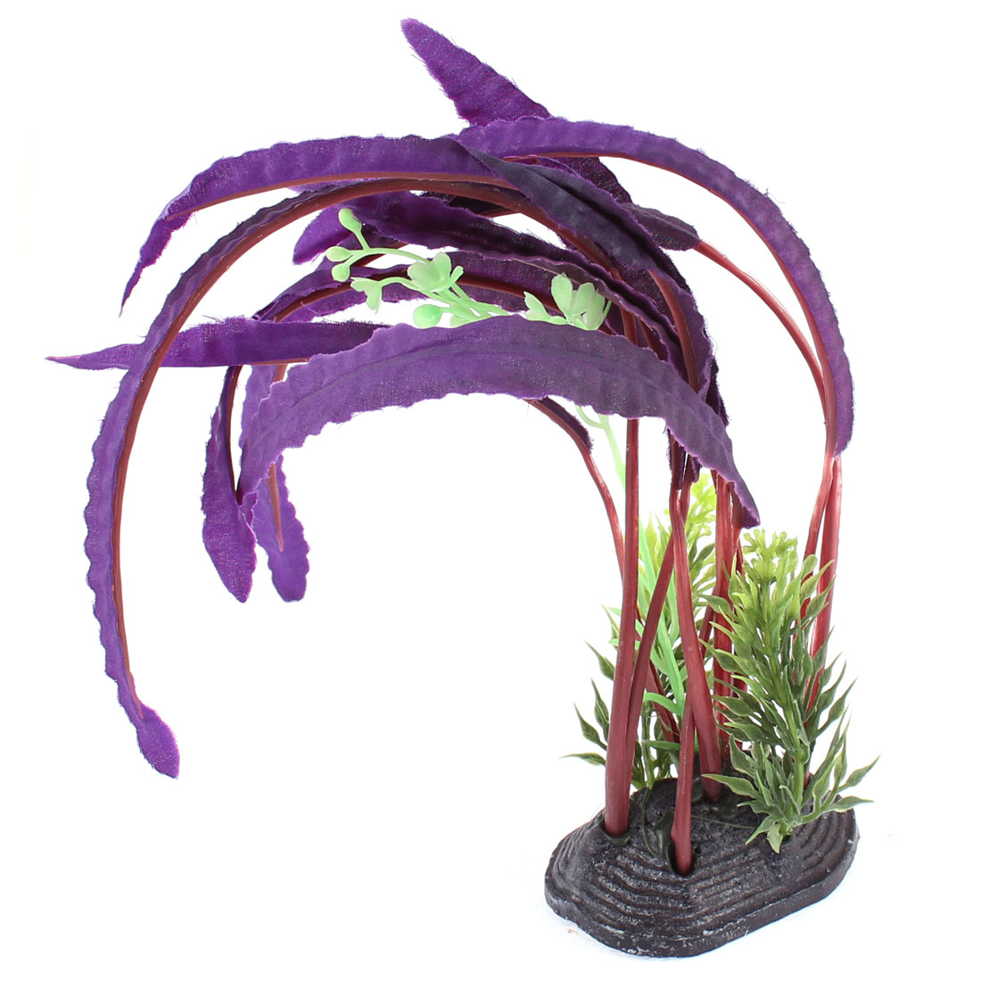 Fish Tank Aquarium Artificial Water Plant Grass Decor Purple 30cm Height