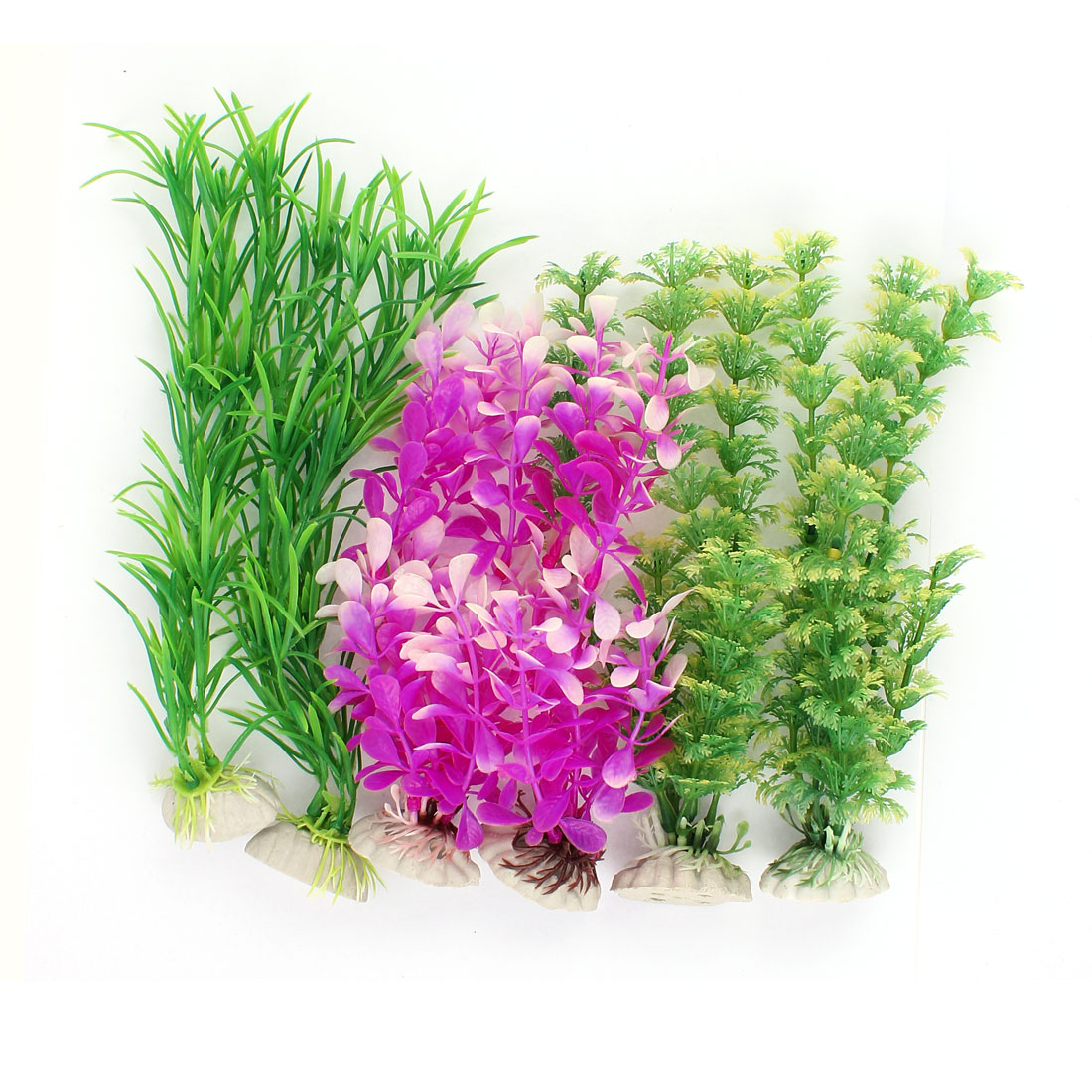Plastic Underwater Sea Weeds Plant Fish Tank Aquarium Decoration 6pcs