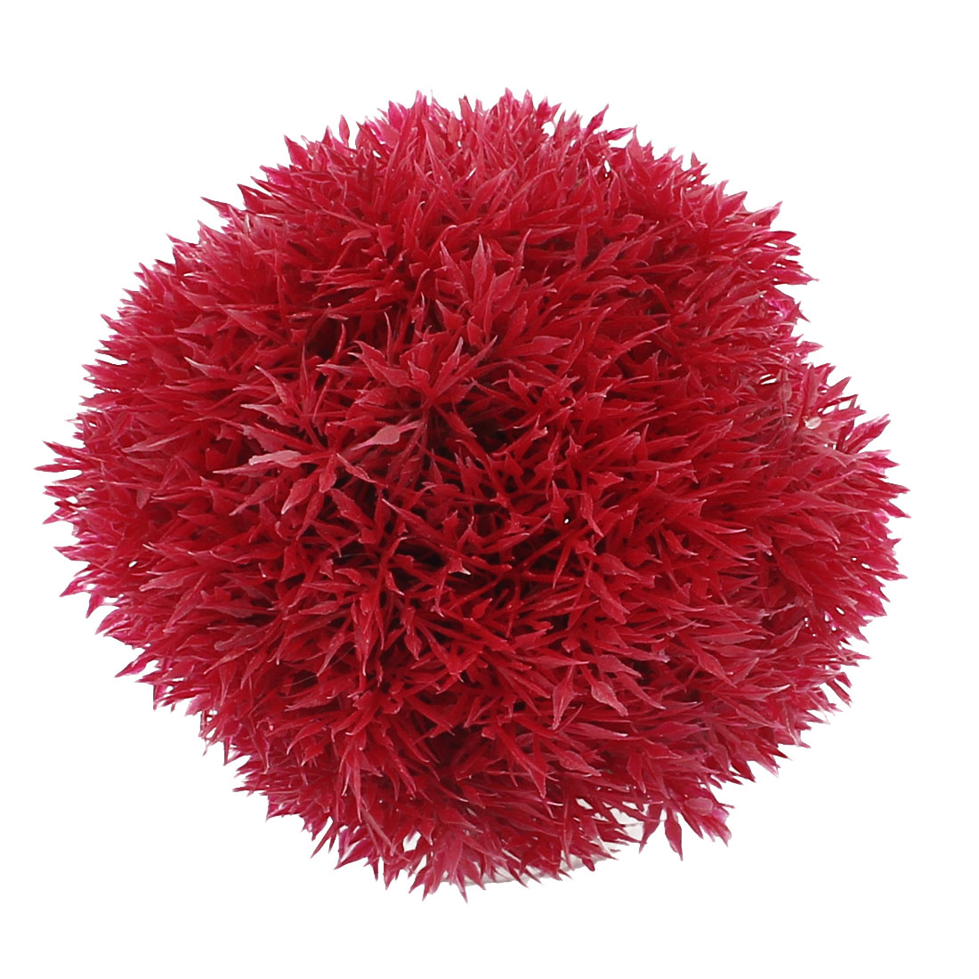 Plastic Grass Ball Design Aquatic Plant Fish Tank Aquarium Decor Red