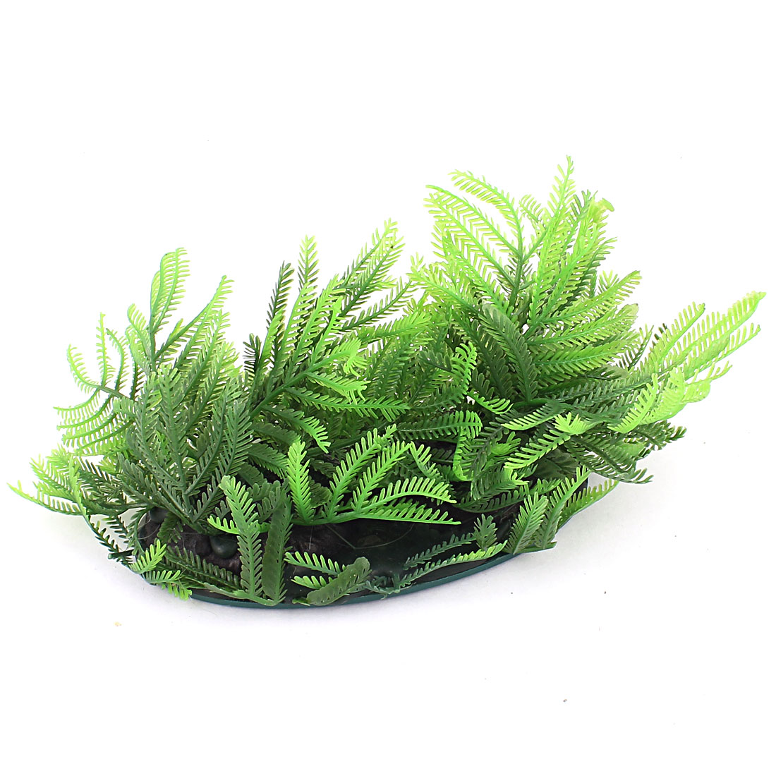 Plastic Leaf Moss Accent Aquatic Plant Fish Tank Aquarium Decor Green
