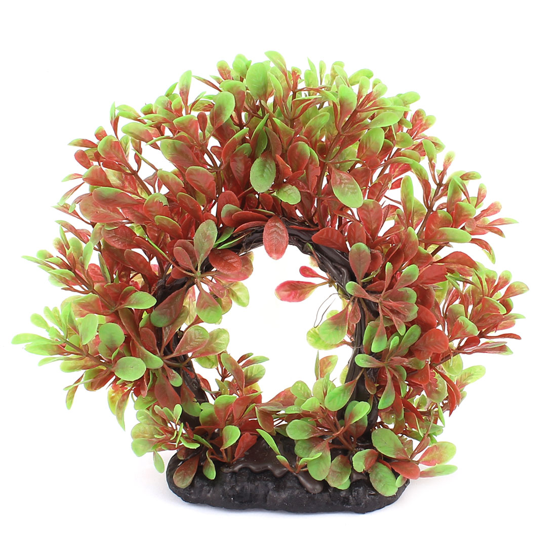 Plastic Leaf Grass Circle Design Aquatic Plant Fish Tank Aquarium Decoration