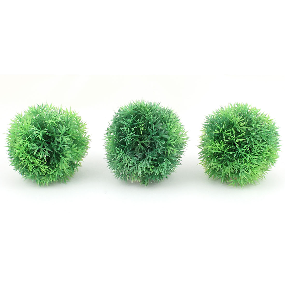 Plastic Leaf Grass Ball Design Aquatic Plant Fish Tank Aquarium Decor Green 3PCS