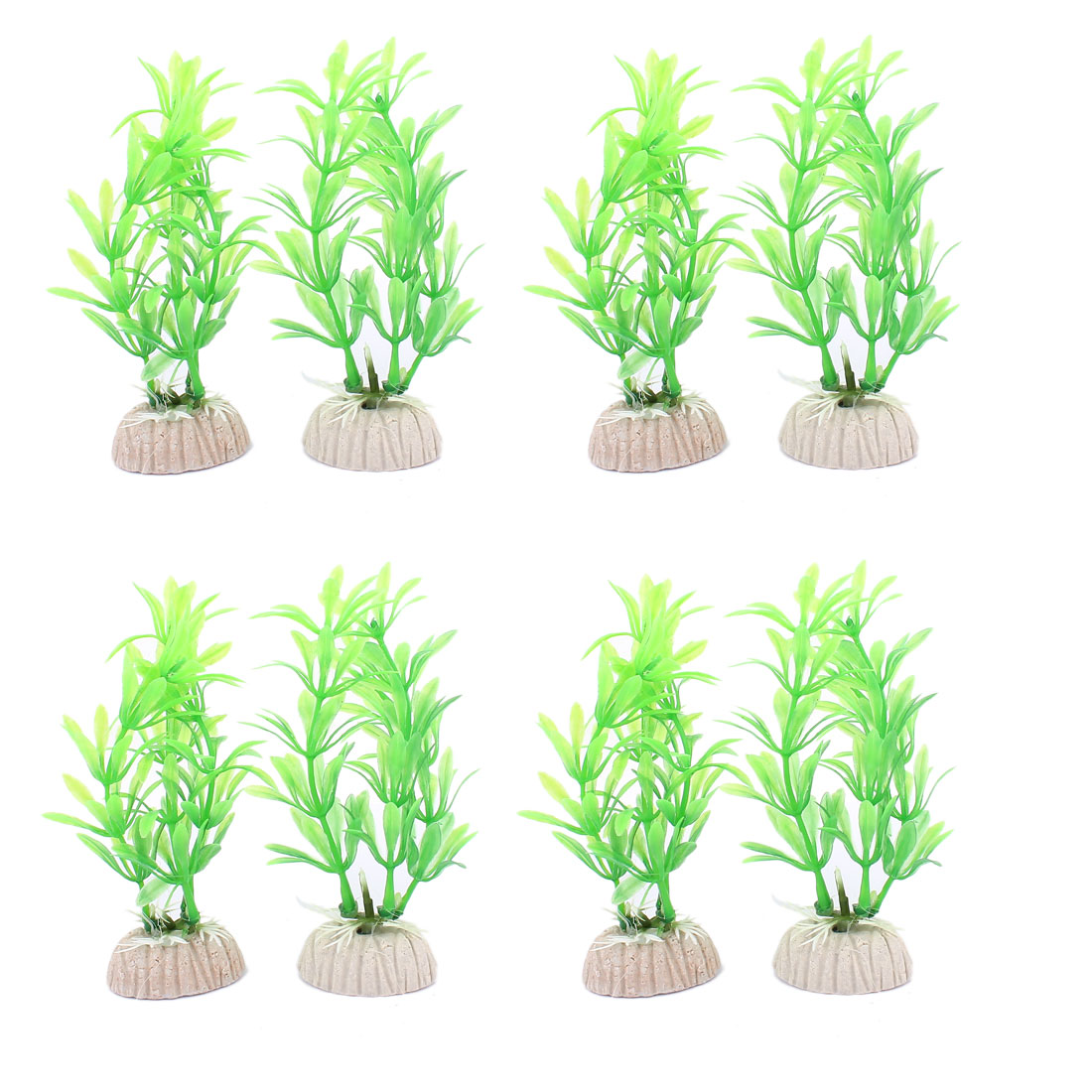 Plastic Underwater Aquatic Plant Fish Tank Aquarium Decoration 8PCS