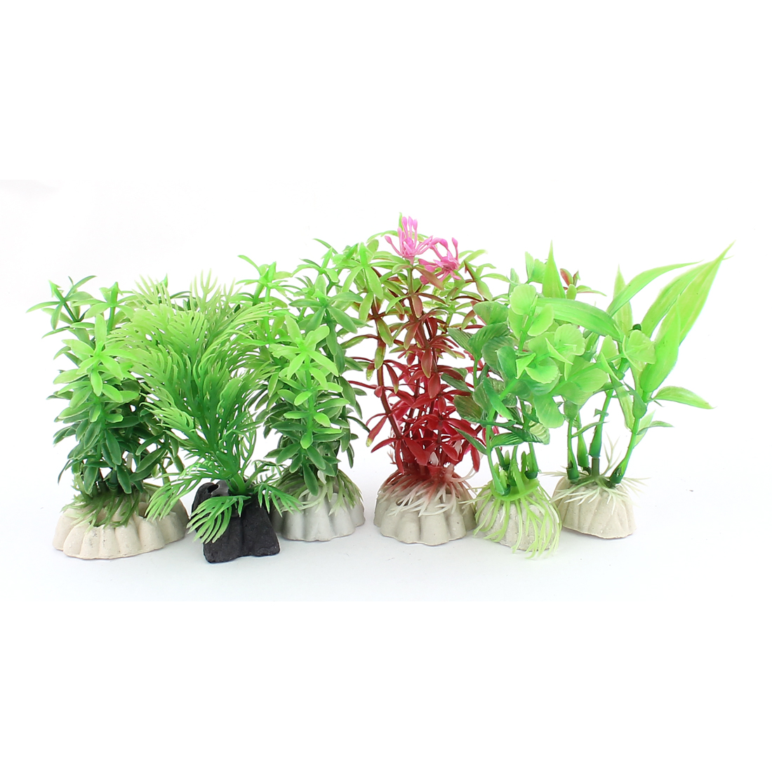 Plastic Simulation Aquascaping Underwater Grass Decor Aquarium Plant 6PCS