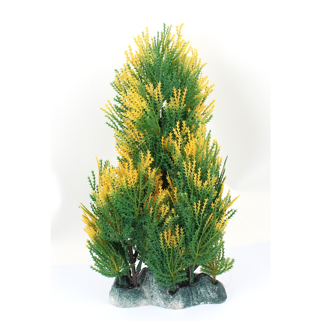 Plastic Landscape Aquascaping Underwater Grass Decor Aquarium Plant Green Yellow