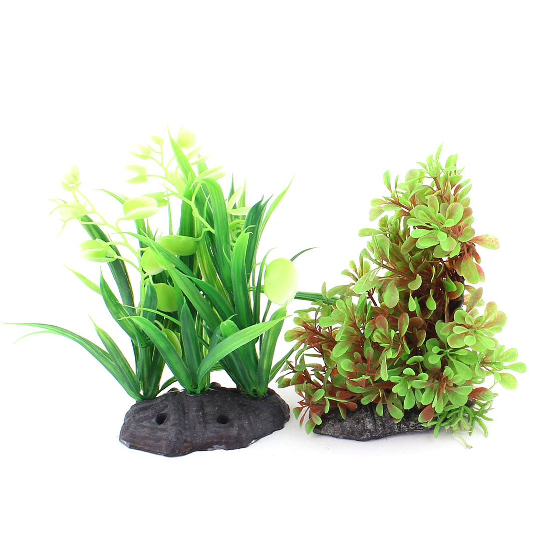Plastic Aquascaping Underwater Plant Grass Aquarium Decor 2pcs