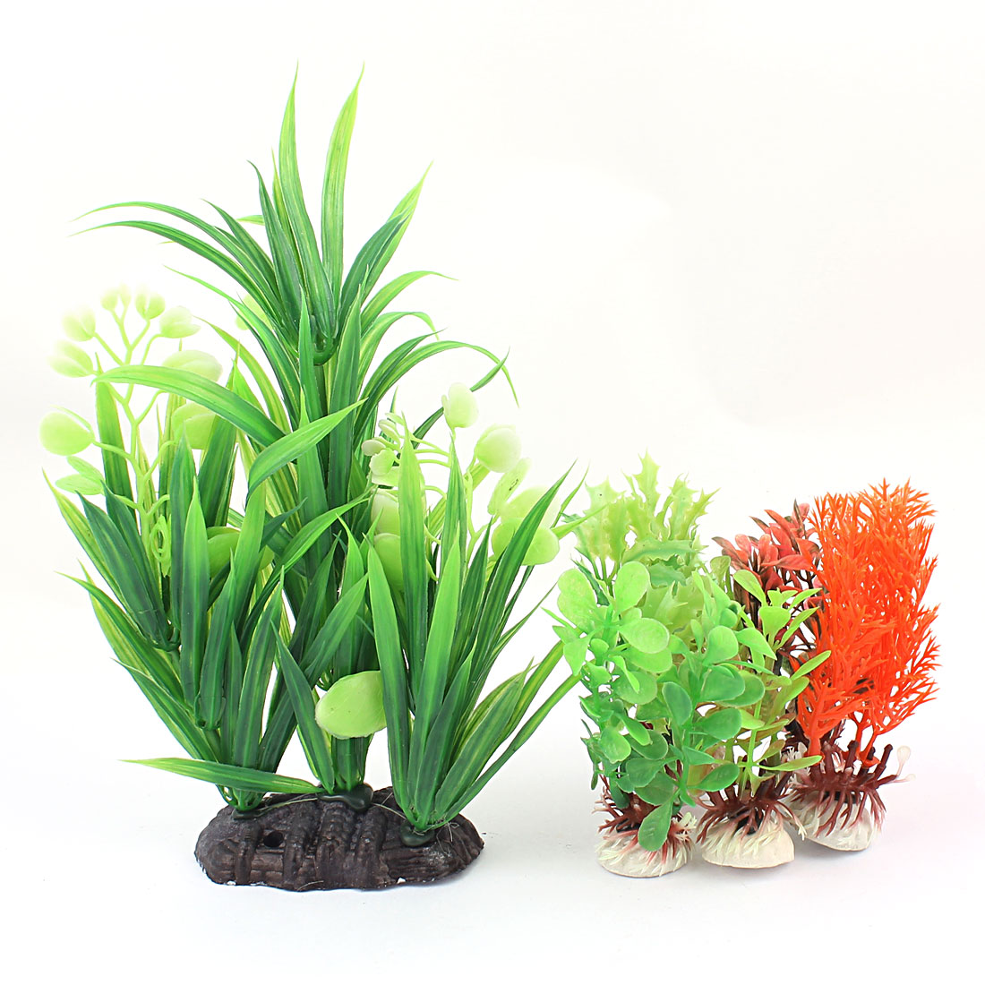 Plastic Underwater Manmade Plant Fish Tank Aquarium Decoration 6PCS