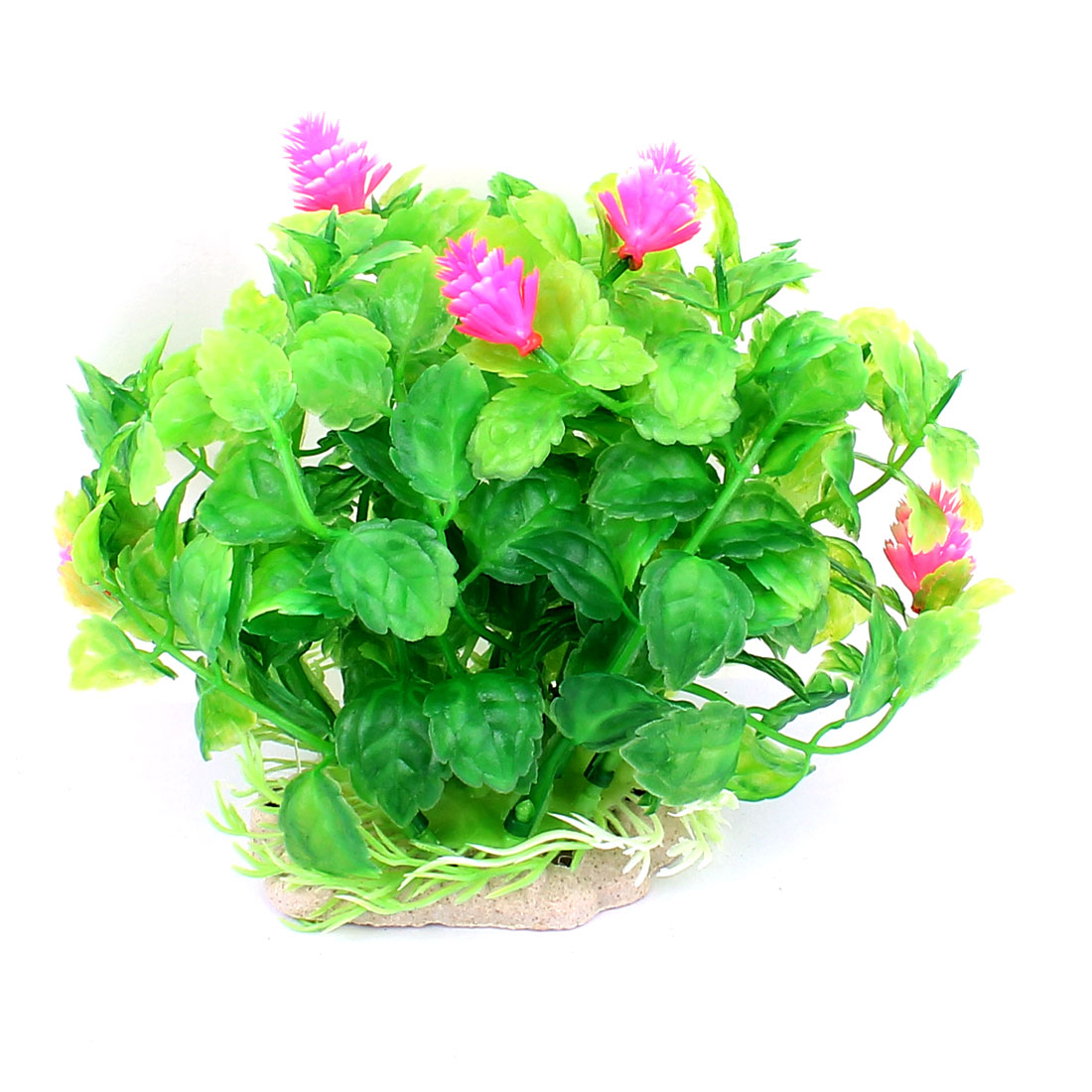 Plastic Underwater Aquatic Plant Fish Tank Aquarium Decor Green Pink