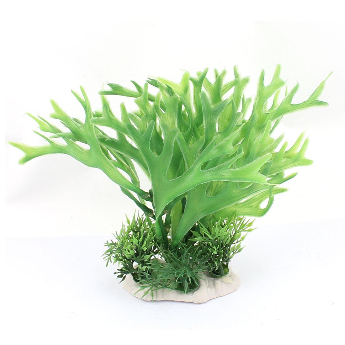 Plastic Aquatic Plant Simulation Leaf Fish Tank Aquarium Decoration Green
