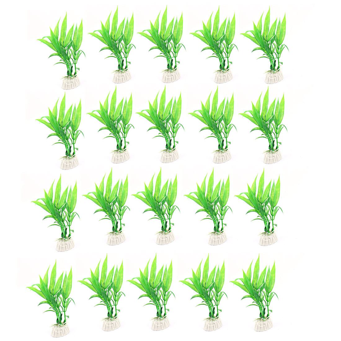 Underwater Simulation Aquatic Plant Fish Tank Aquarium Decor Green 20PCS
